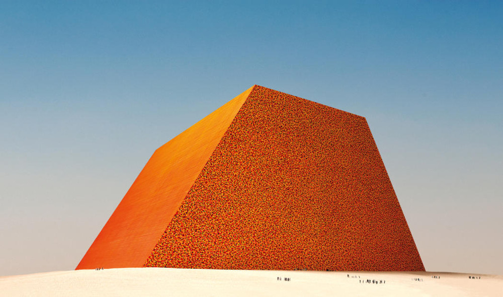 Christo  The Mastaba of Abu Dhabi (Project for United Arab Emirates)  Scale model 1979