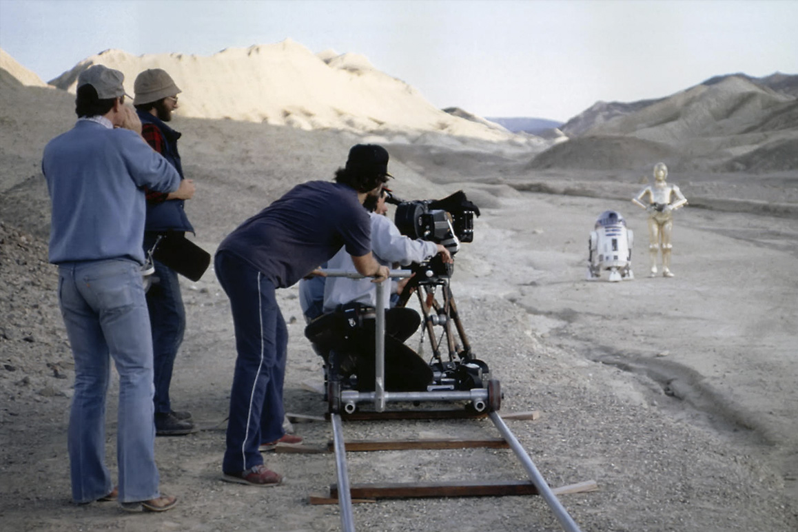 """Star Wars"" has been filmed at numerous ""otherworldly"" locations throughout the Mojave Desert, including Death Valley's Twenty Mule Team Canyon for this scene in ""Episode VI: Return of the Jedi."" Lucasfilm, LTD."