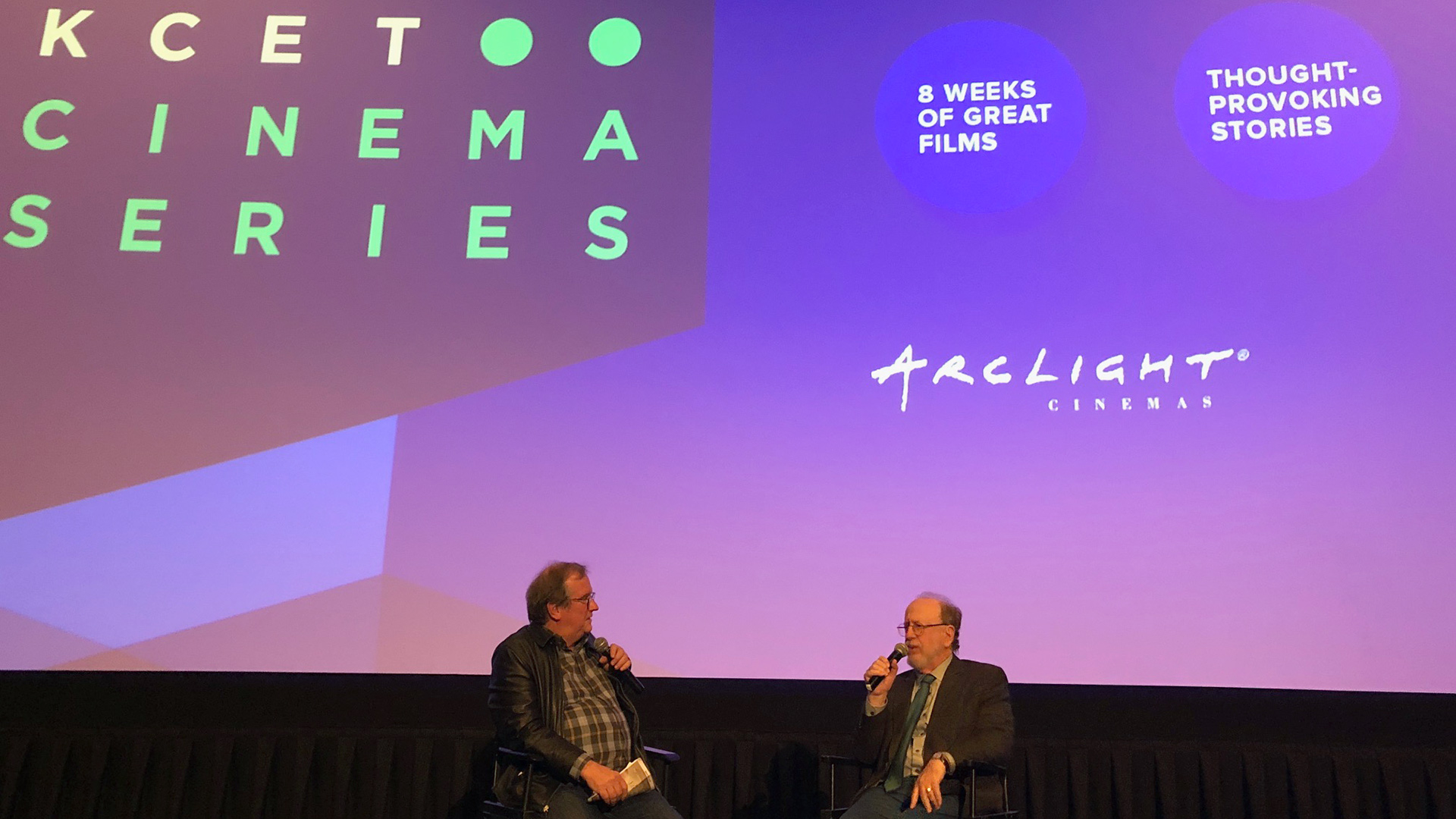Post screening conversation with Pete Hammond and Lightyear President Arnie Holland.