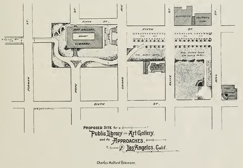 In 1907, City Beautiful planner Charles Mulfold Robinson envisioned a public library for the State Normal School site.