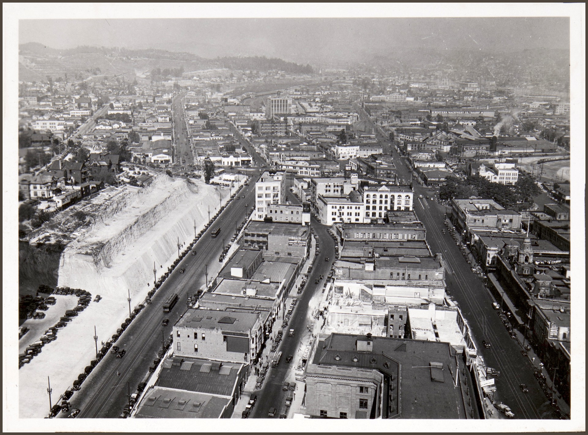 [Looking north from City Hall tower]. Los Angeles: 1932-33 by Anton Wagner, PC 17, California Historical Society.