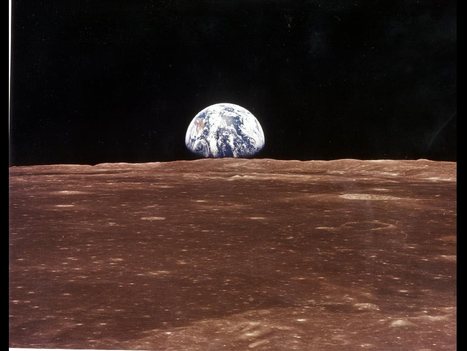 View of Earth from Apollo 11 on July 19, 1969