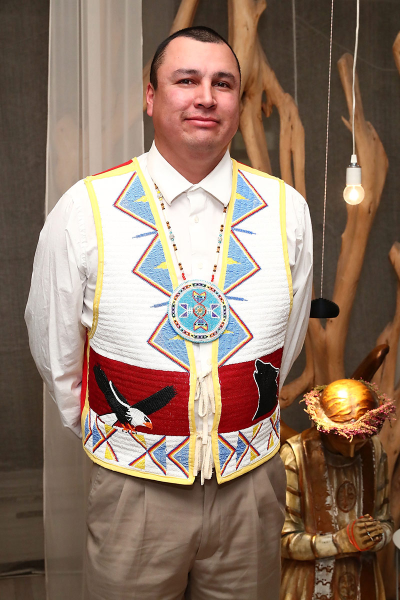 Sioux Tribal Council Member Cody Two Bears attends Stand With Standing Rock Benefit at ABC Home & Carpet on December 15, 2016 in New York City. | Photo by Astrid Stawiarz/Getty Images
