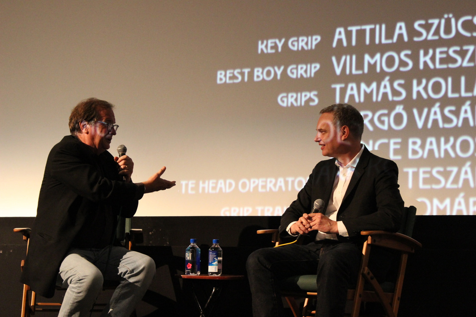 "Cinema Series host Pete Hammond and Writer/Director Wash Westmoreland participate in a Q&A after a screening of ""Colette"""