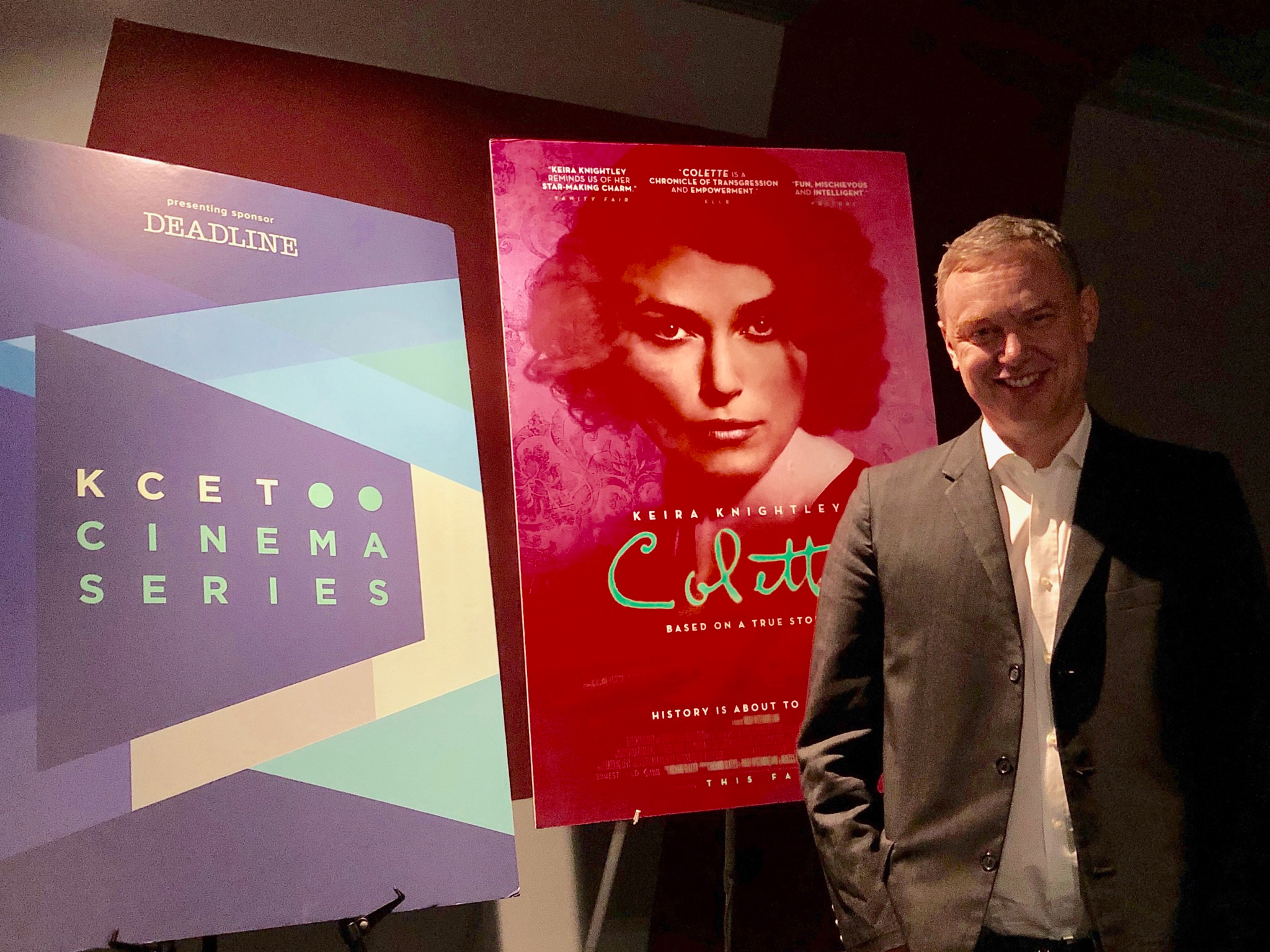 "Writer/Director Wash Westmoreland after a screening of ""Colette"""
