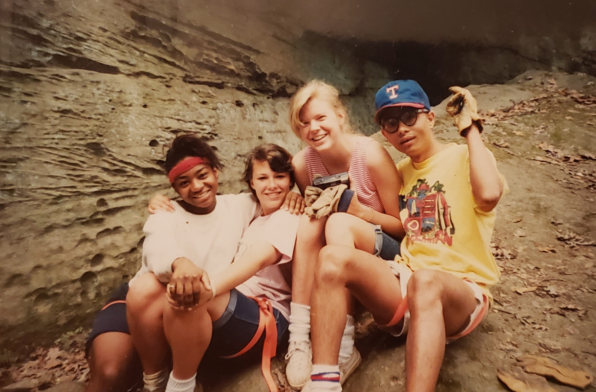 Anil Shahi and some friends pose on a rock climbing trip during his college days college days in Edinboro, Pennsylvania, 1990. | Courtesy of Anil Shahi