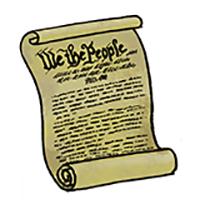 Drawing of U.S. Constitution | original artwork Henry Cram