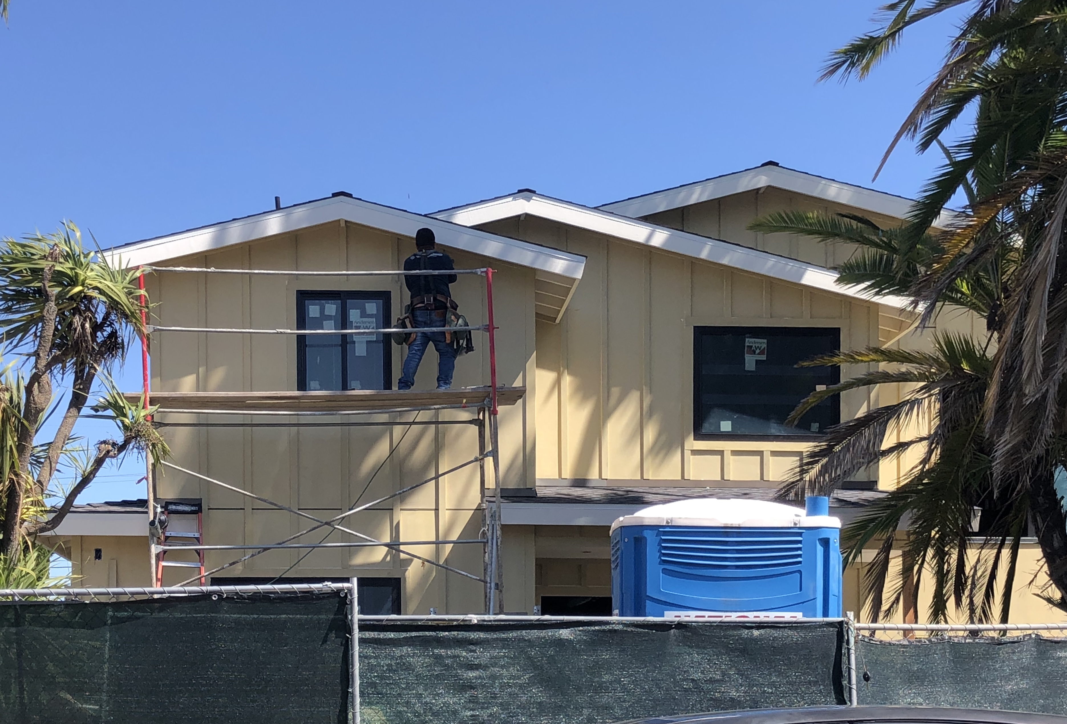 Building and home Construction is considered an essential business and continues throughout the southland. | Karen Foshay/KCET