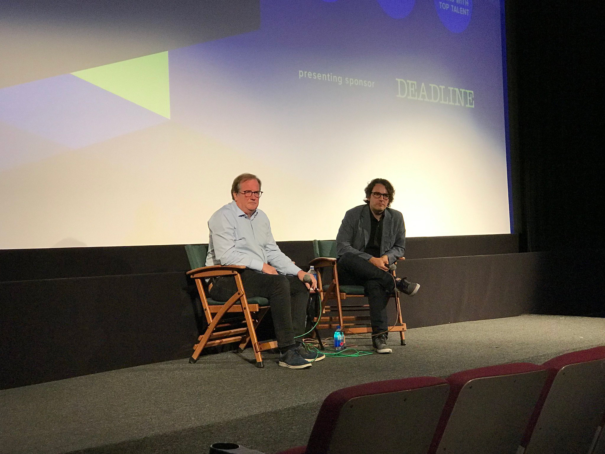 "Cinema Series host Pete Hammond and Director A.J. Eaton participate in a Q&A after a screening of ""David Crosby: Remember My Name"""
