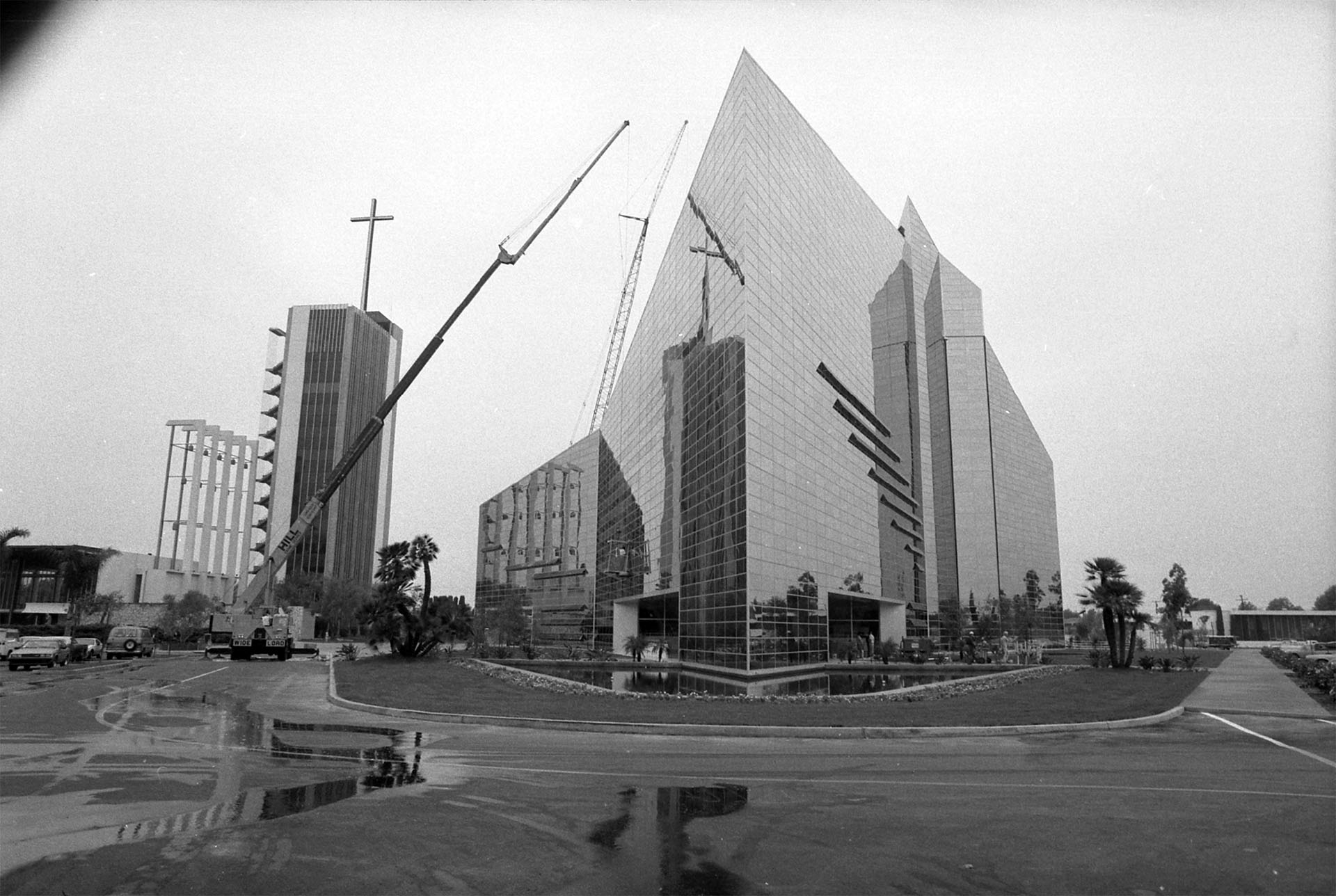 Exterior of Crystal Cathedral in Garden Grove, Calif., 1980