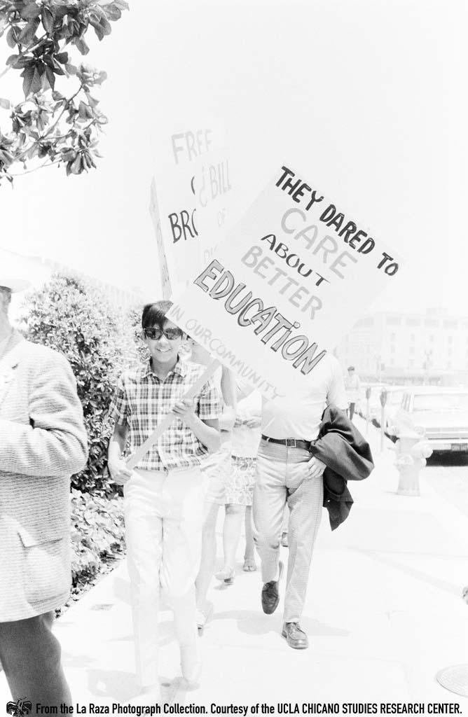 CSRC_LaRaza_B1F4C8_Staff_010 Rally to free the L.A. 13 at La Placita | La Raza photograph collection. Courtesy of UCLA Chicano Studies Research Center