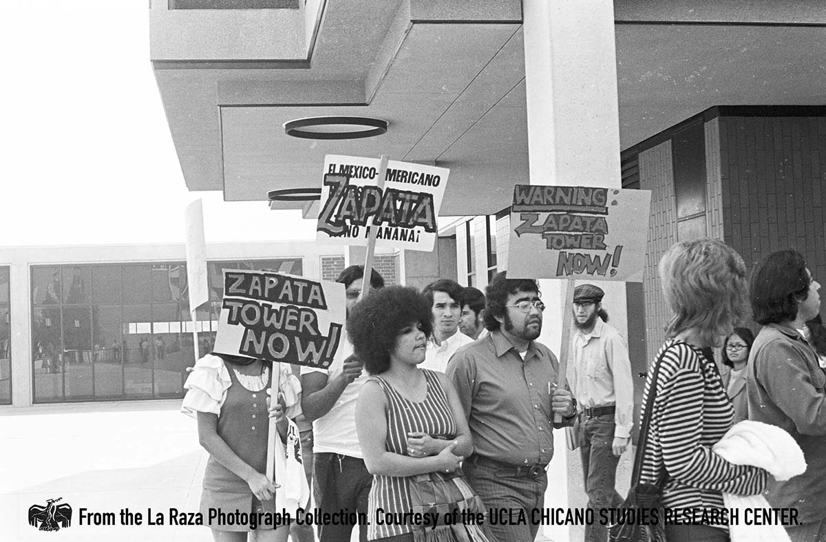 CSRC_LaRaza_B2F12C3_RR_003 California State University, Los Angeles Zapata Power Conference | Raul Ruiz, a Raza photograph collection. Courtesy of UCLA Chicano Studies Research Center