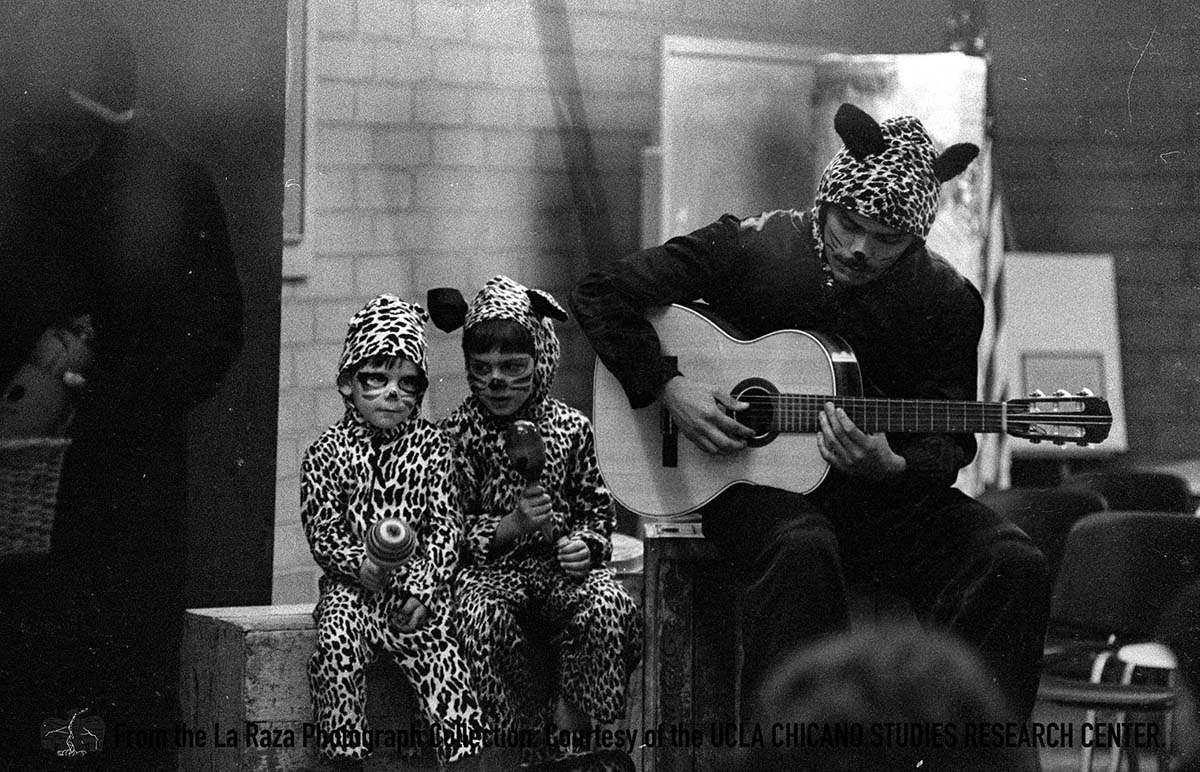 CSRC_LaRaza_B9F14S2_N006 Children in a performance | La Raza photograph collection. Courtesy of UCLA Chicano Studies Research Center