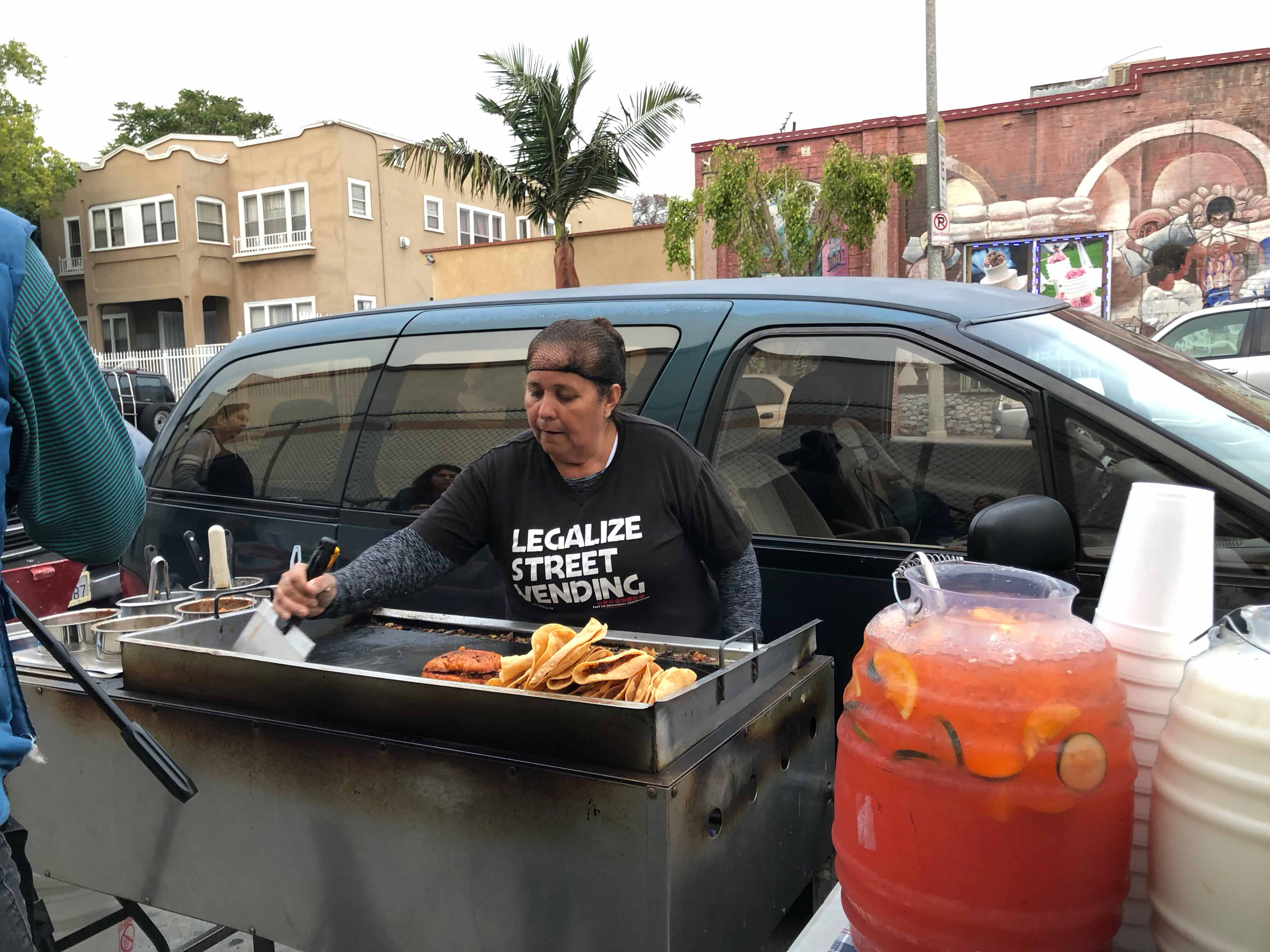 Boyle Heights street vendor Caridad Vasquez