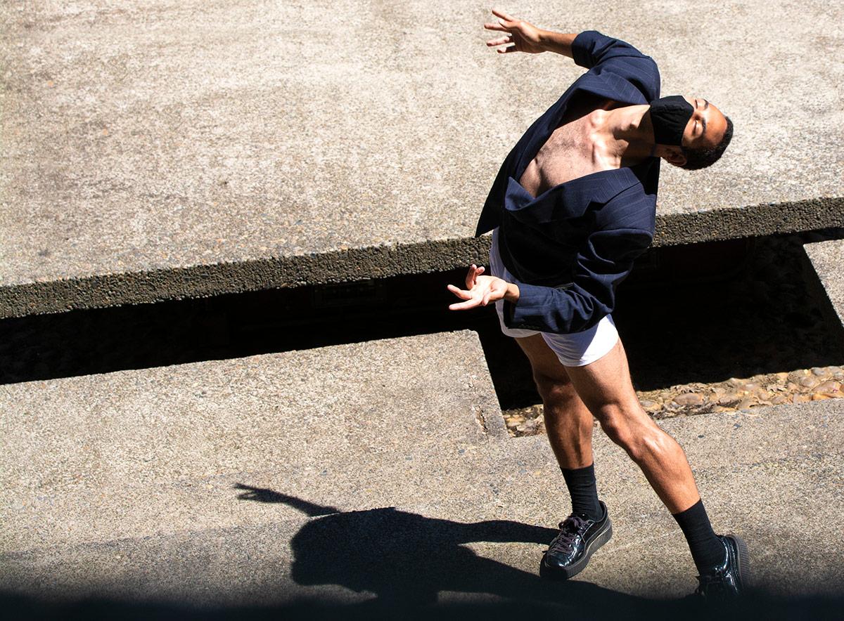 Heidi Duckler Dance Northwest dancer puts his head back as he dances. | Courtesy Heidi Duckler Dance