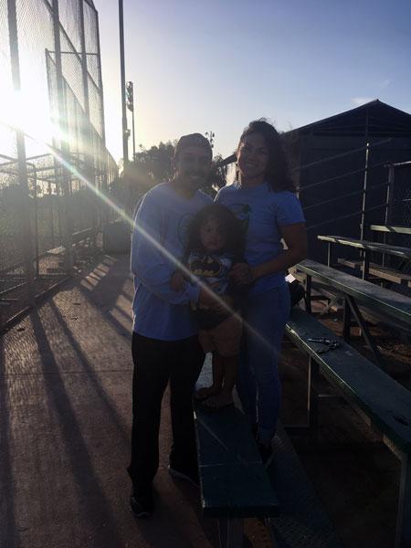 David (left), Natalie (right), and Little David Andrade (center) | Robin Kello