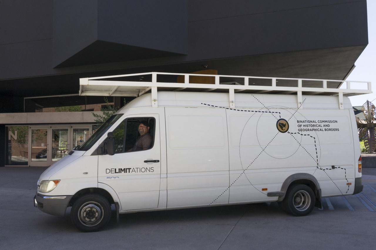 "The ""Binational Commission of Historical and Geographical Borders"" van"