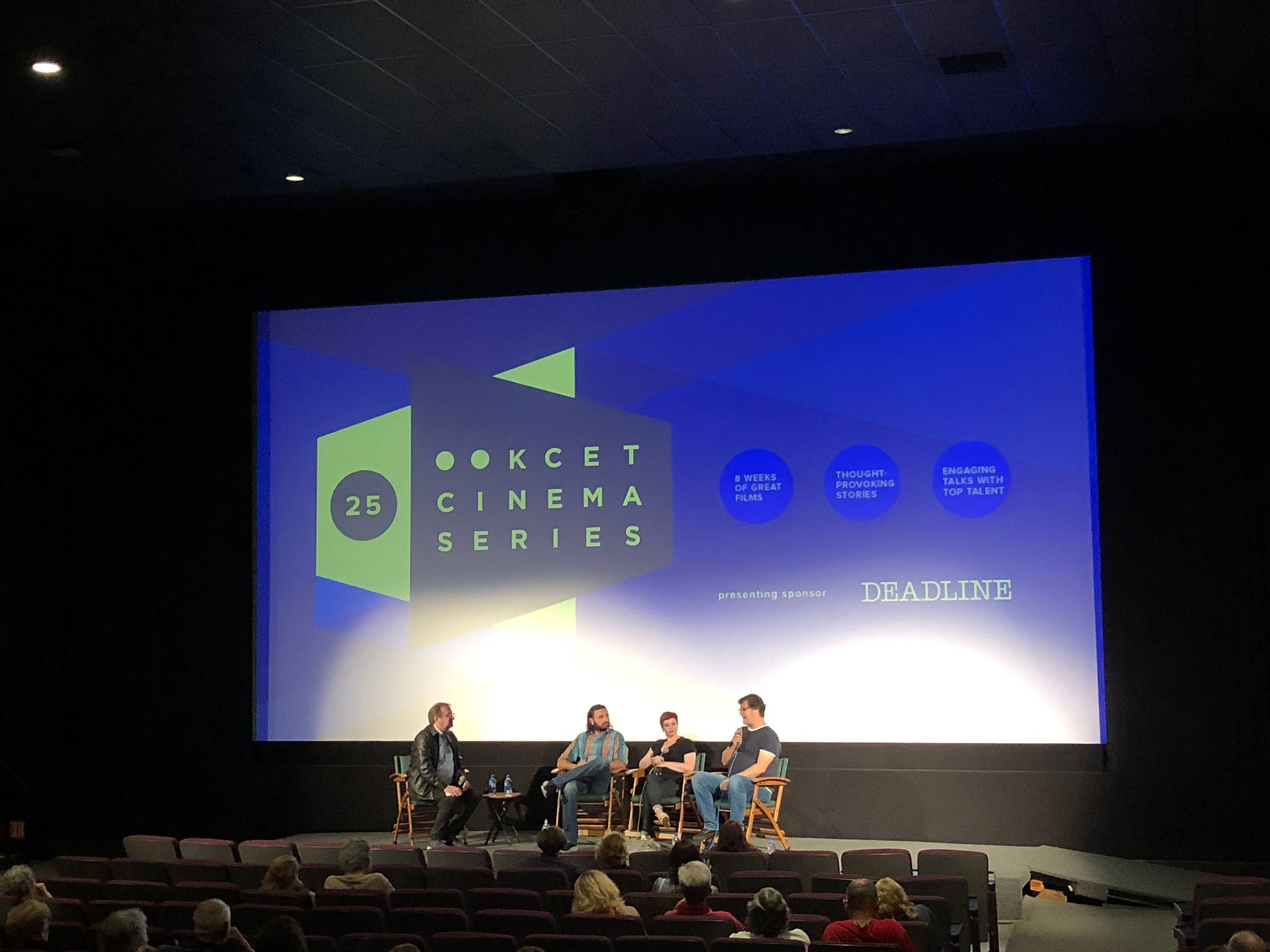 """Cinema Series host Pete Hammond, Producer Tamir Ardon and Directors Sheena M. Joyce and Don Argott participate in a Q&A discussion after a screening of """"Framing John Delorean"""""""
