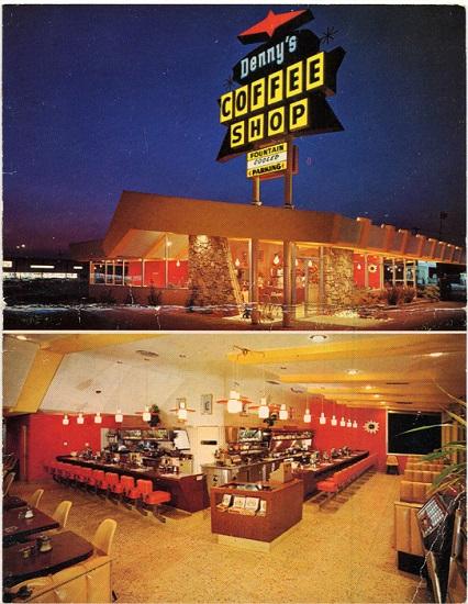 Denny's Coffee Shop Menu Cover, 1960s