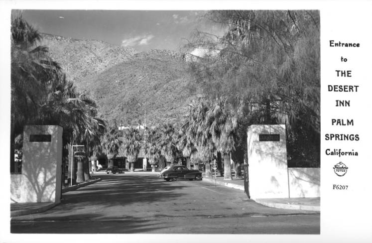 Entrance to the Desert Inn Palm Springs California