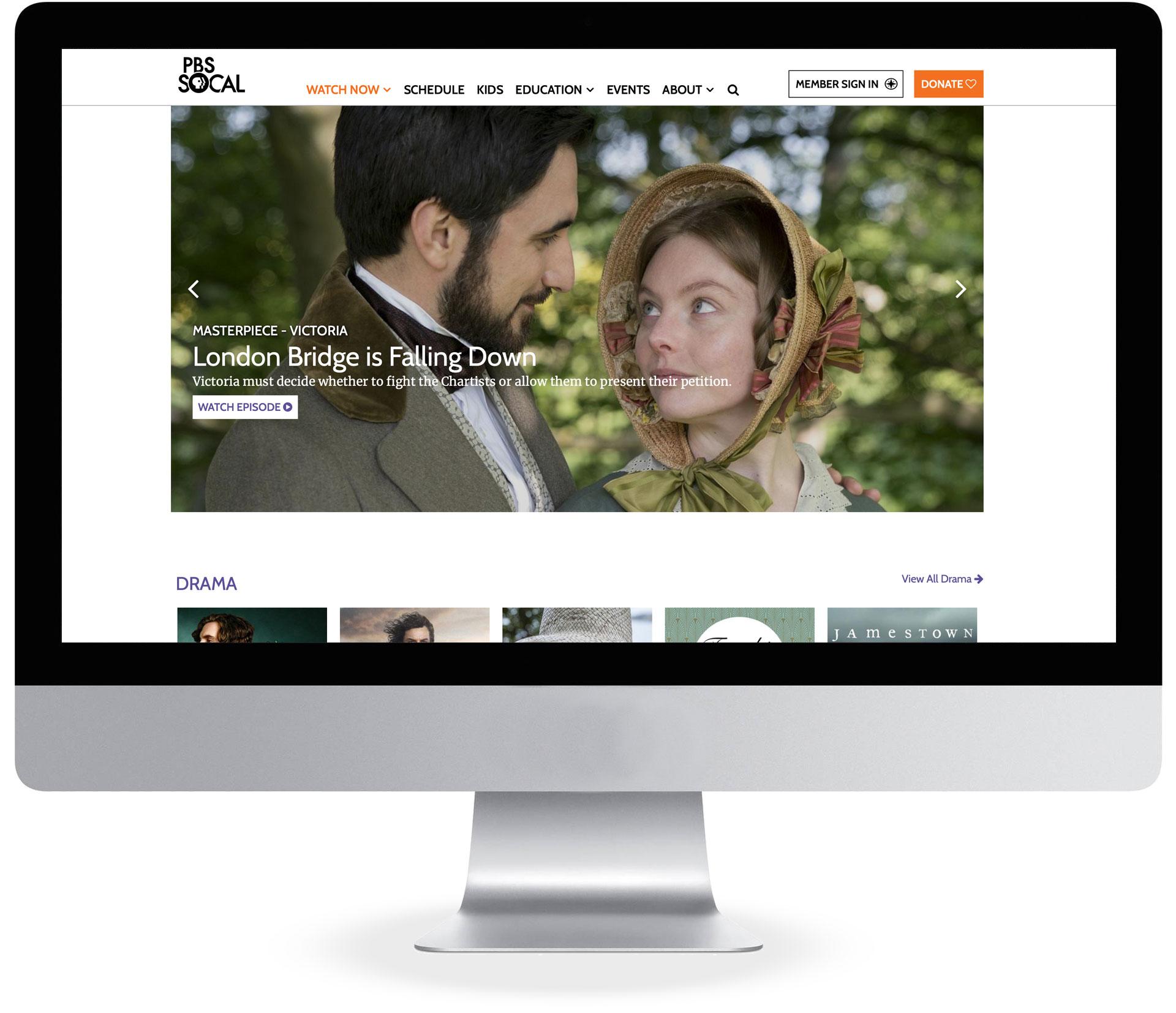 Desktop PBS Video Player on pbssocal.org