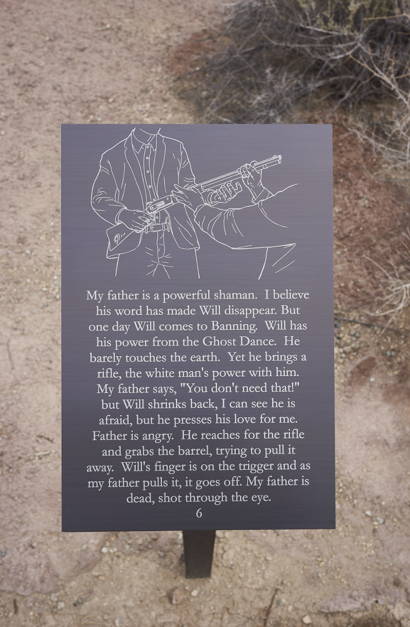 Plaque 6 at the Joshua Tree National Park. | Photo: Ruth Nolan.