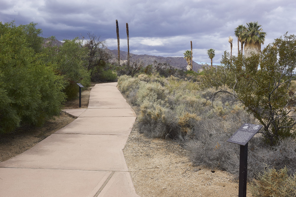 View of walkway and plaques at Joshua Tree National Park. | Photo: Ruth Nolan.