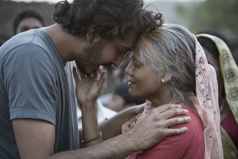 "Dev Patel and Priyanka Bose in the film ""Lion."""