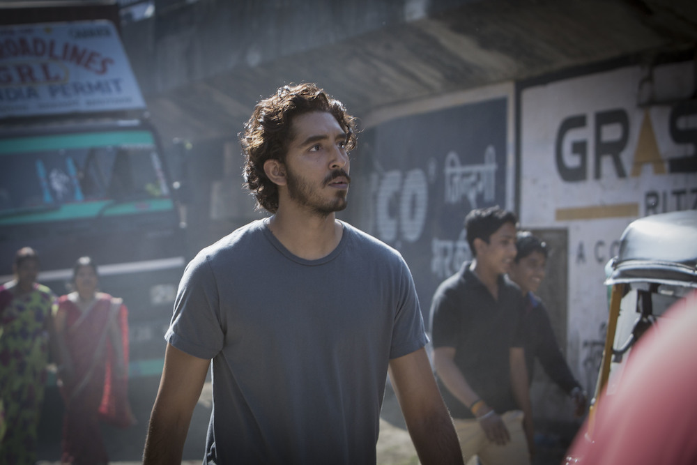"Dev Patel (as Saroo Bierley) in the film ""Lion."""