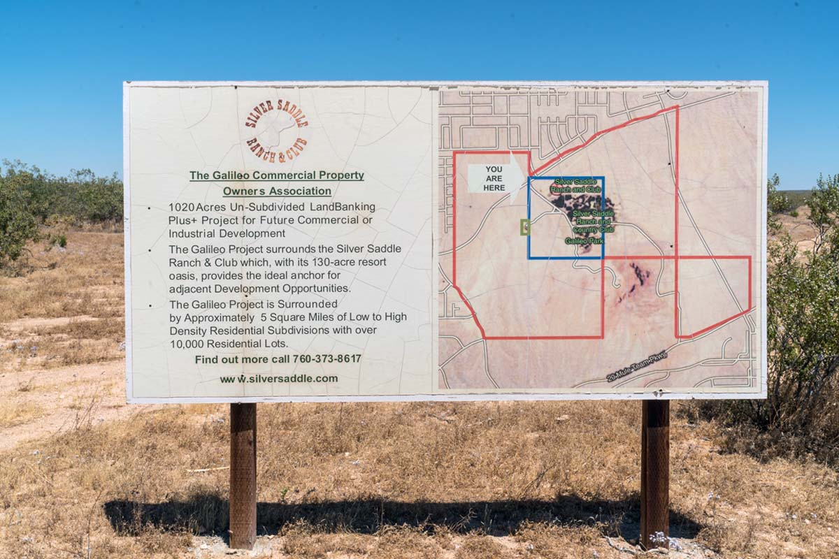 A faded sign for the Galileo Commercial Property Owners Association near their Silver Saddle Ranch complex in California's 2nd community. | Kim Stringfellow