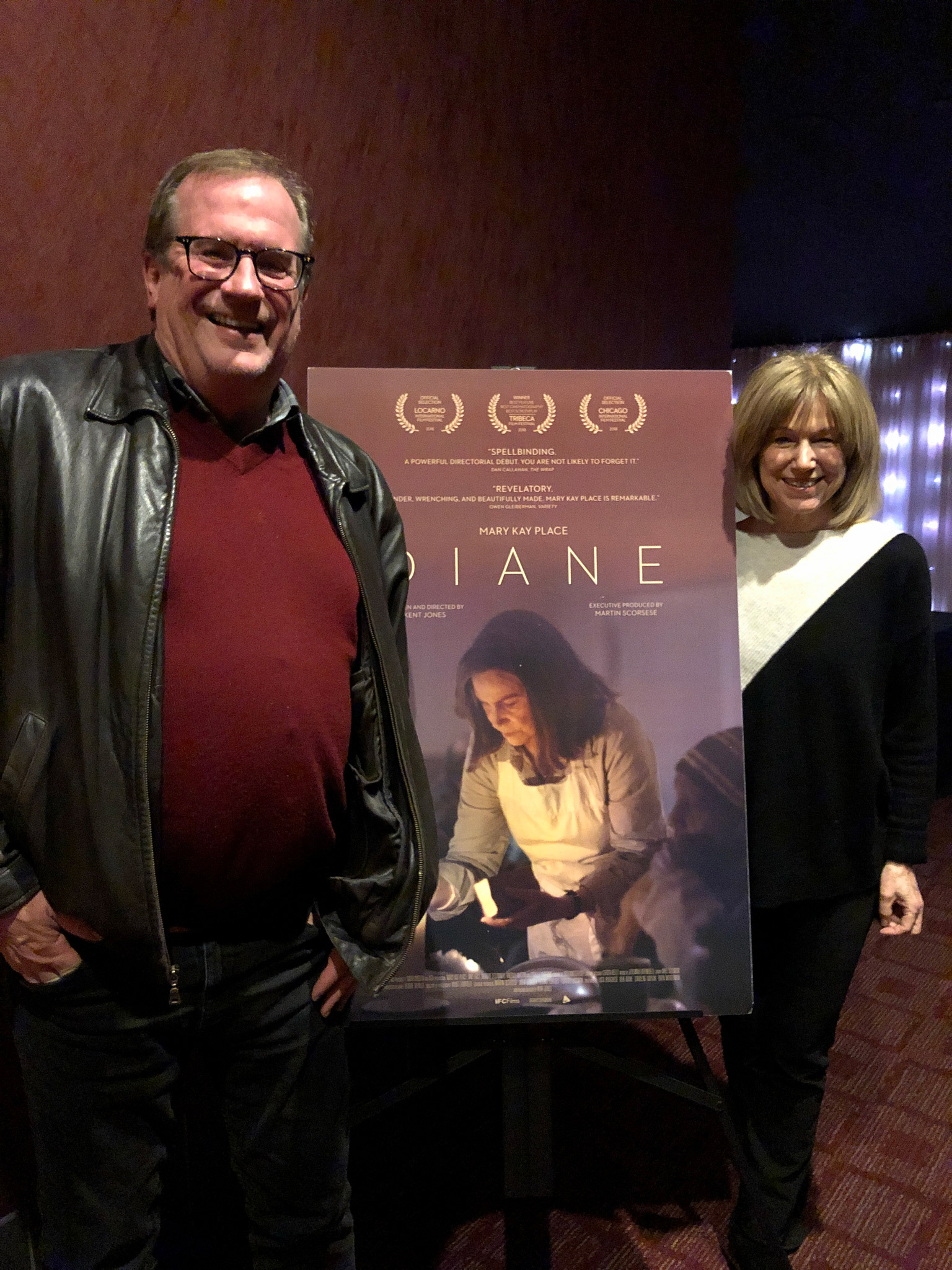 "Cinema Series host Pete Hammond and Actor Mary Kay Place after a screening of ""Diane"""