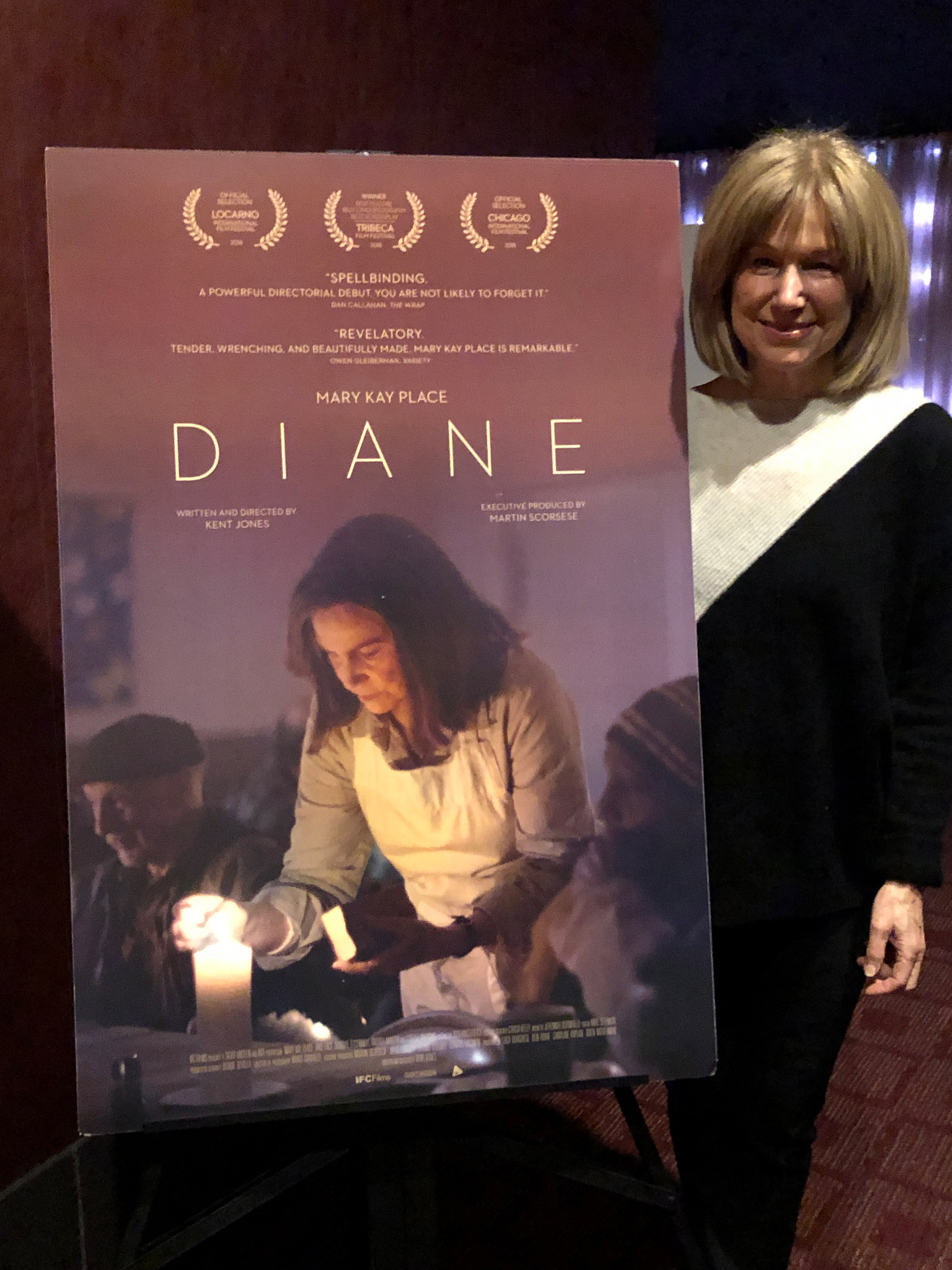"Actor Mary Kay Place after a screening of ""Diane"""