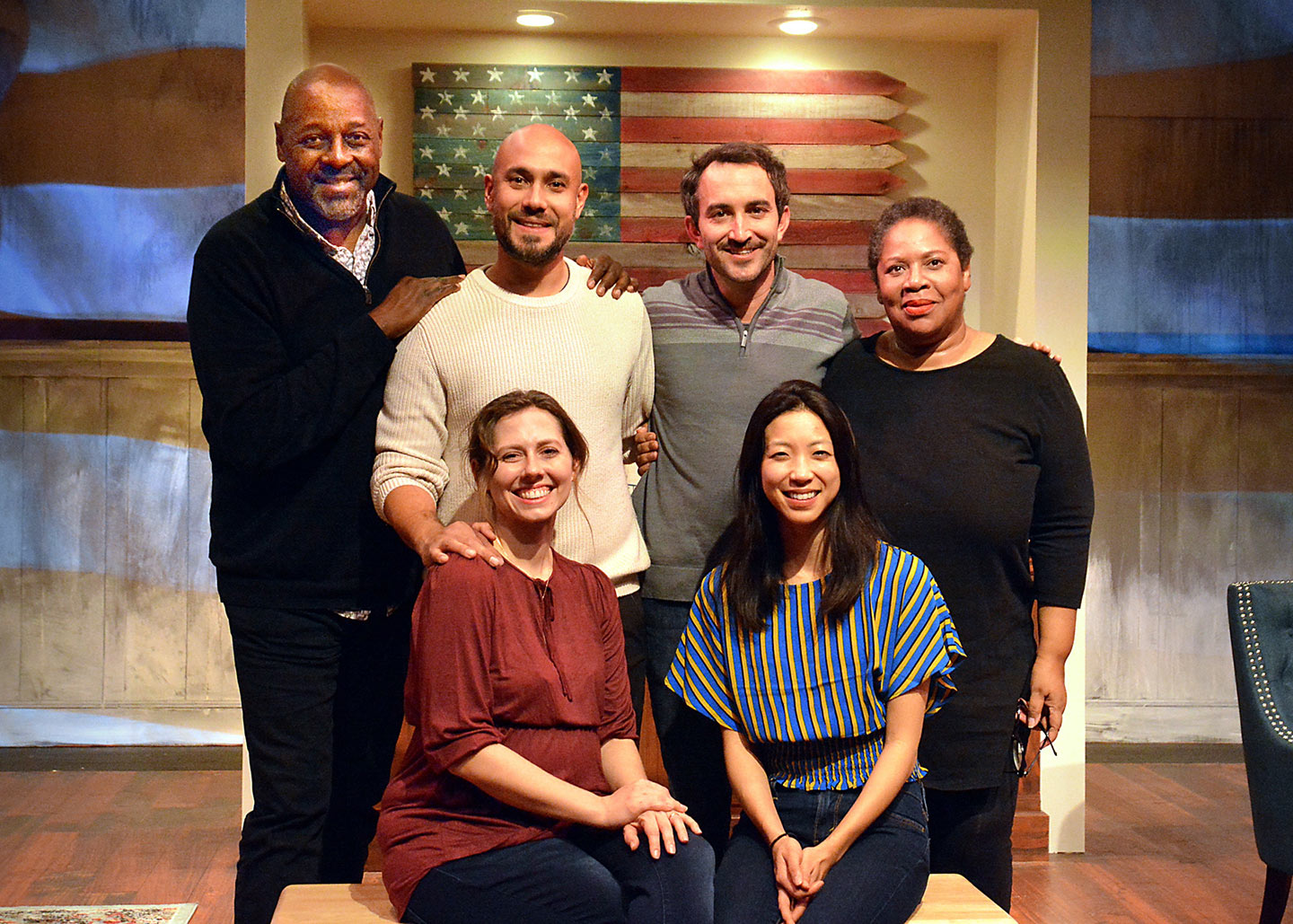 Clockwise from top left: Director Michael A. Shepperd, actors Andres M. Baggs and Clayton Farris, writer Penelope Lowder and actors Allison Blaize and Jenny Soo.   Ed Krieger