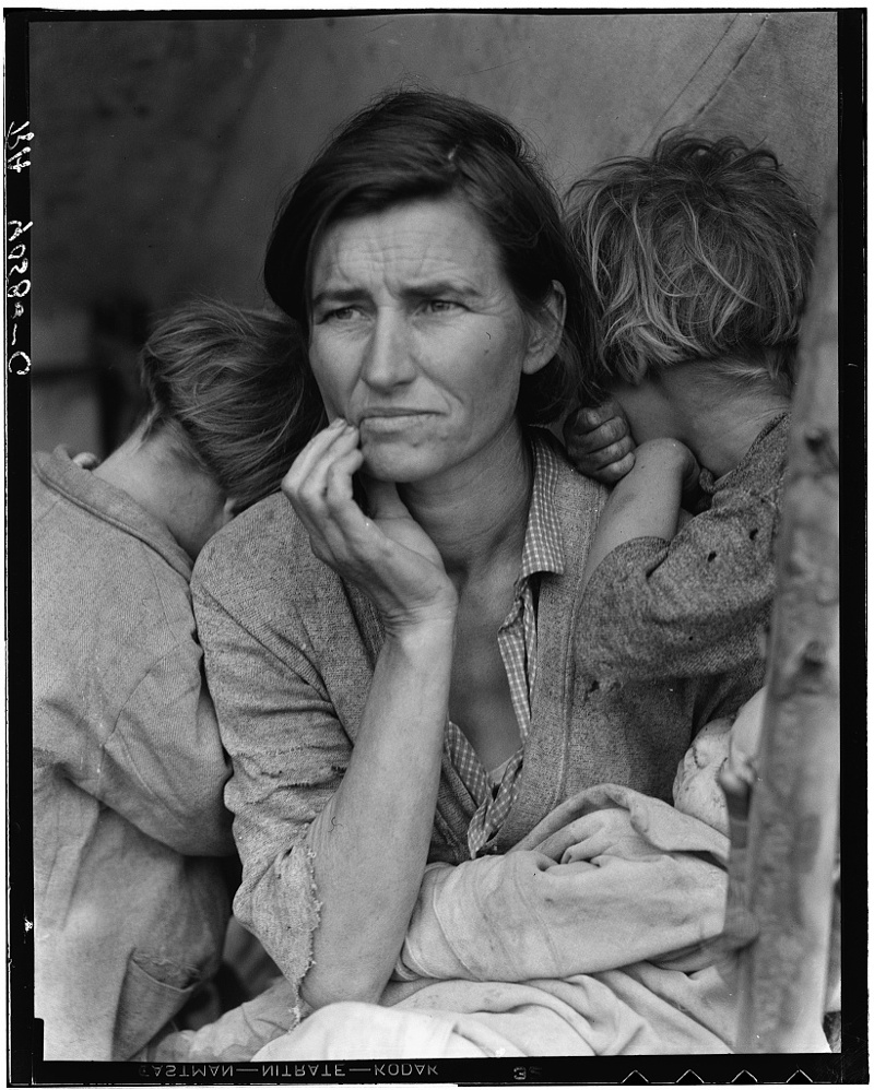 "Dorothea Lange, ""Migrant Mother,"" 1936."