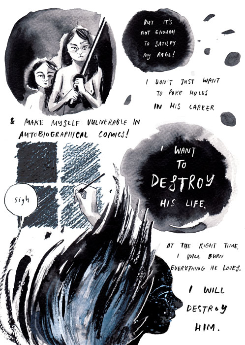 "Destroy Every Thing You Touch (page 6) | Rachel Ang, excerpt from ""Drawing Power: Women's Stories of Sexual Violence, Harassment, and Survival,"" edited by Diane Noomin © Abrams ComicArts, 2019"
