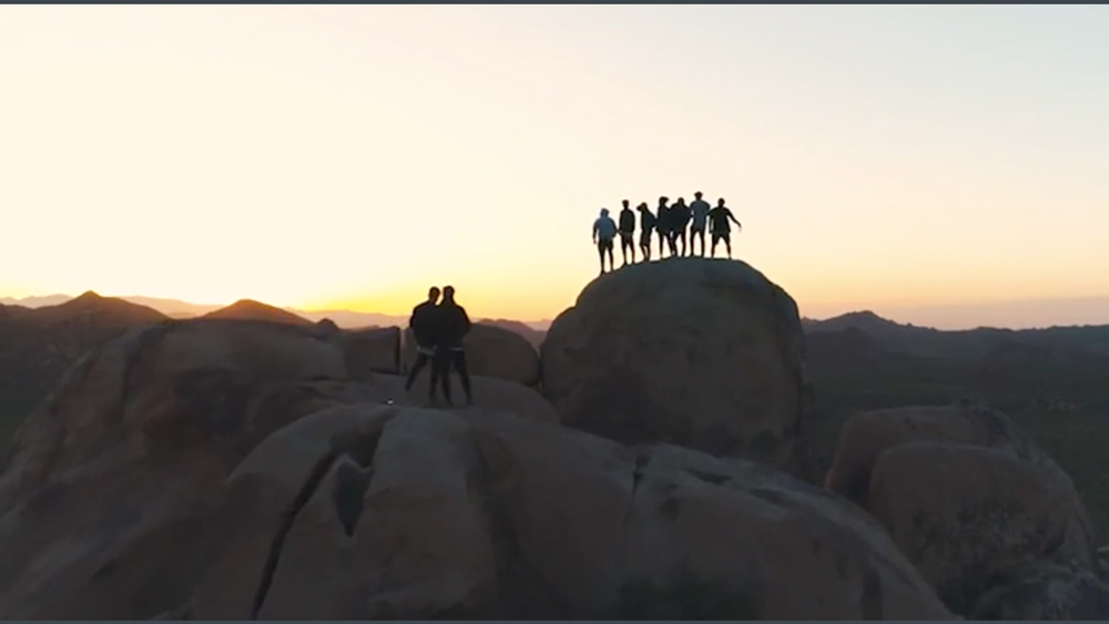 Still from illegally captured drone footage in Joshua Tree National Park | Photo: Storror