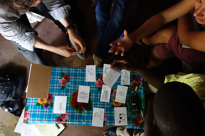 A team from IDEO.org maps financial decisions with a farmer in rural Kenya. |  Danny Alexander, IDEO.org