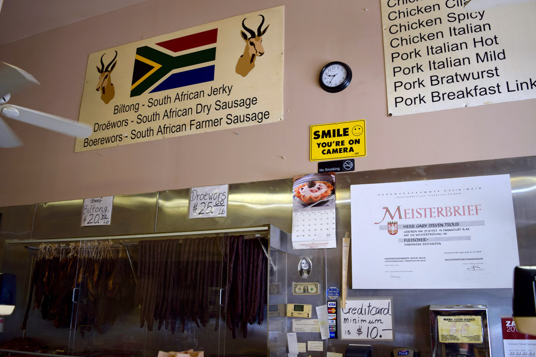 You Can Find South African Sausages And Biltong At This