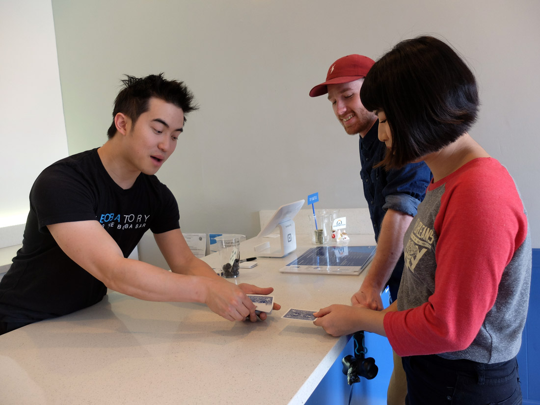 Labobatory's quality craft boba has many diverse fans, from returners from the early Boba 7 days, to first-timers -- many of whom are impressed with Elton Keung's drink creations and magic tricks.