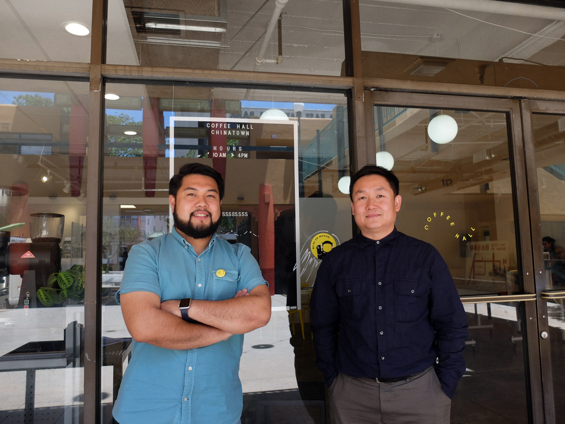Aldo Lihiang (left) and Yeekai Lim (right), co-owners of CoffeeHall Chinatown | Allyson Escobar