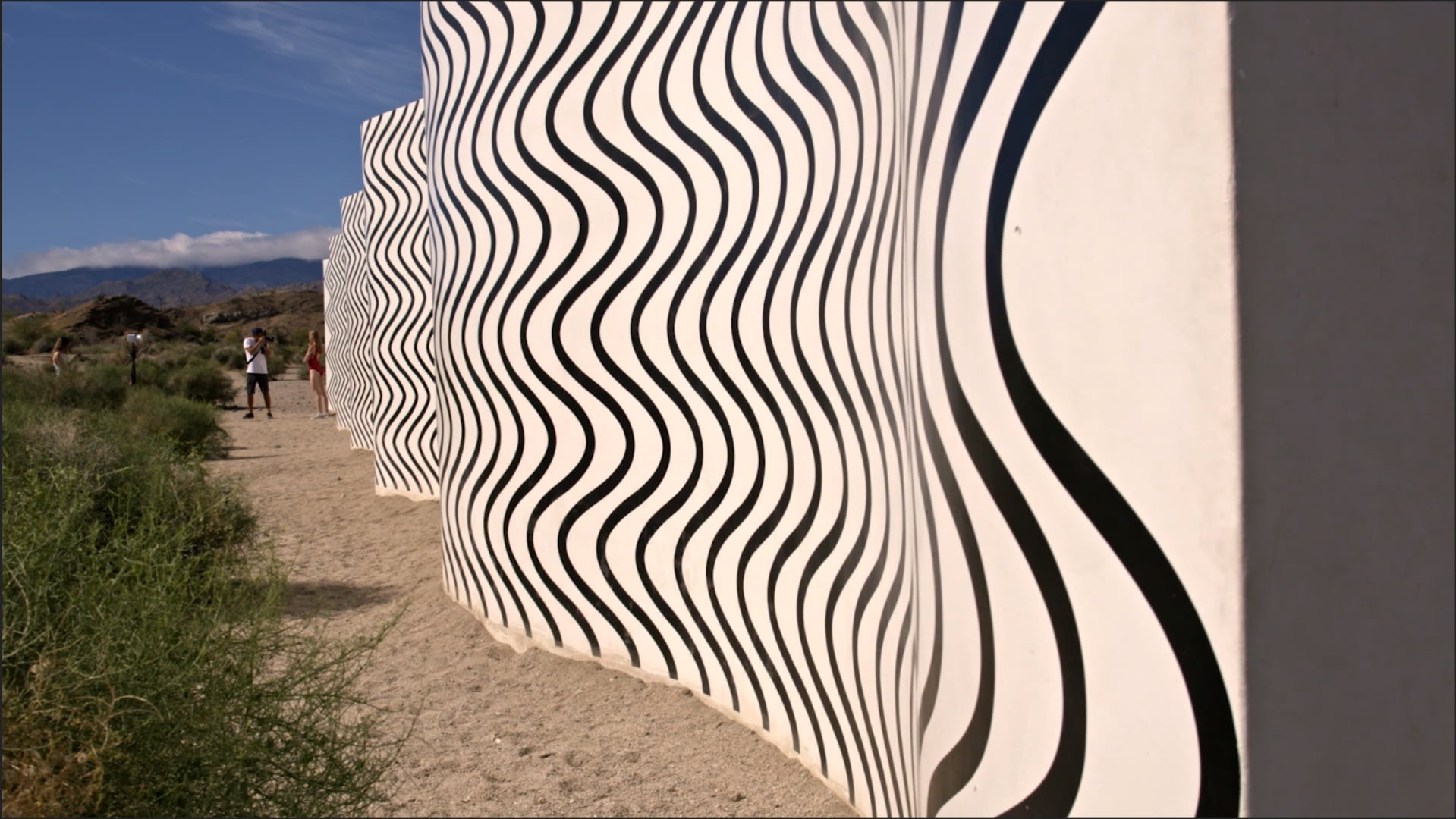 """Curves and Zigzags"" by Claudia Comte 