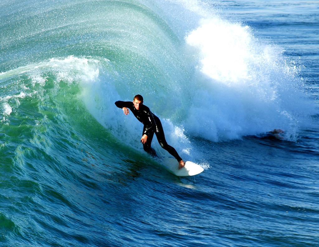 Surfer at Hermosa Beach Pier