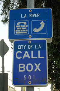 Signage for L.A. River