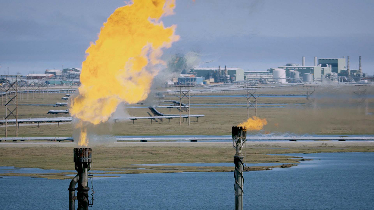 """The oil and gas industry has large operations in Alaska. 