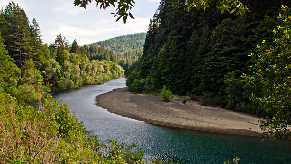 The Eel River flows through a redwood forest | Photo: Daniel, some rights reserved