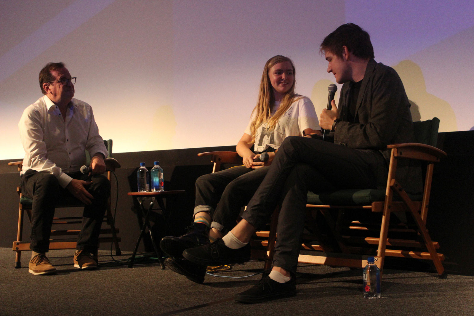 "Cinema Series host Pete Hammond, Actress Elsie Fisher and Writer/Director Bo Burnham participate in a Q&A after a screening of ""Eighth Grade"""