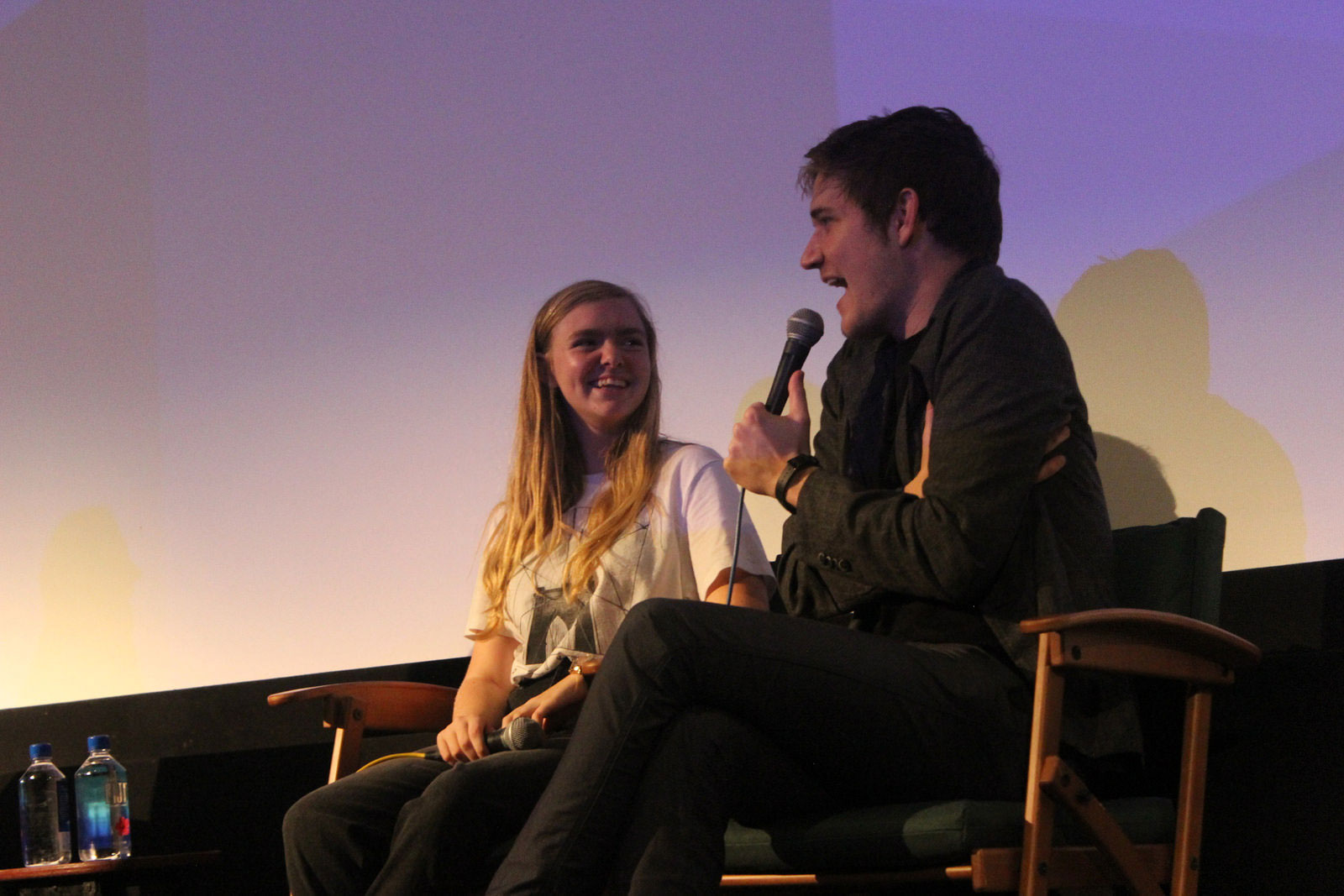 "Actress Elsie Fisher and Writer/Director Bo Burnham take questions from the audience after a screening of ""Eighth Grade"""