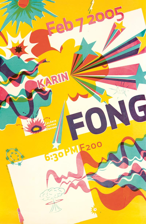 CalArts poster advertising a talk by Karin Fong | Eli Carrico and Yasmin Khan