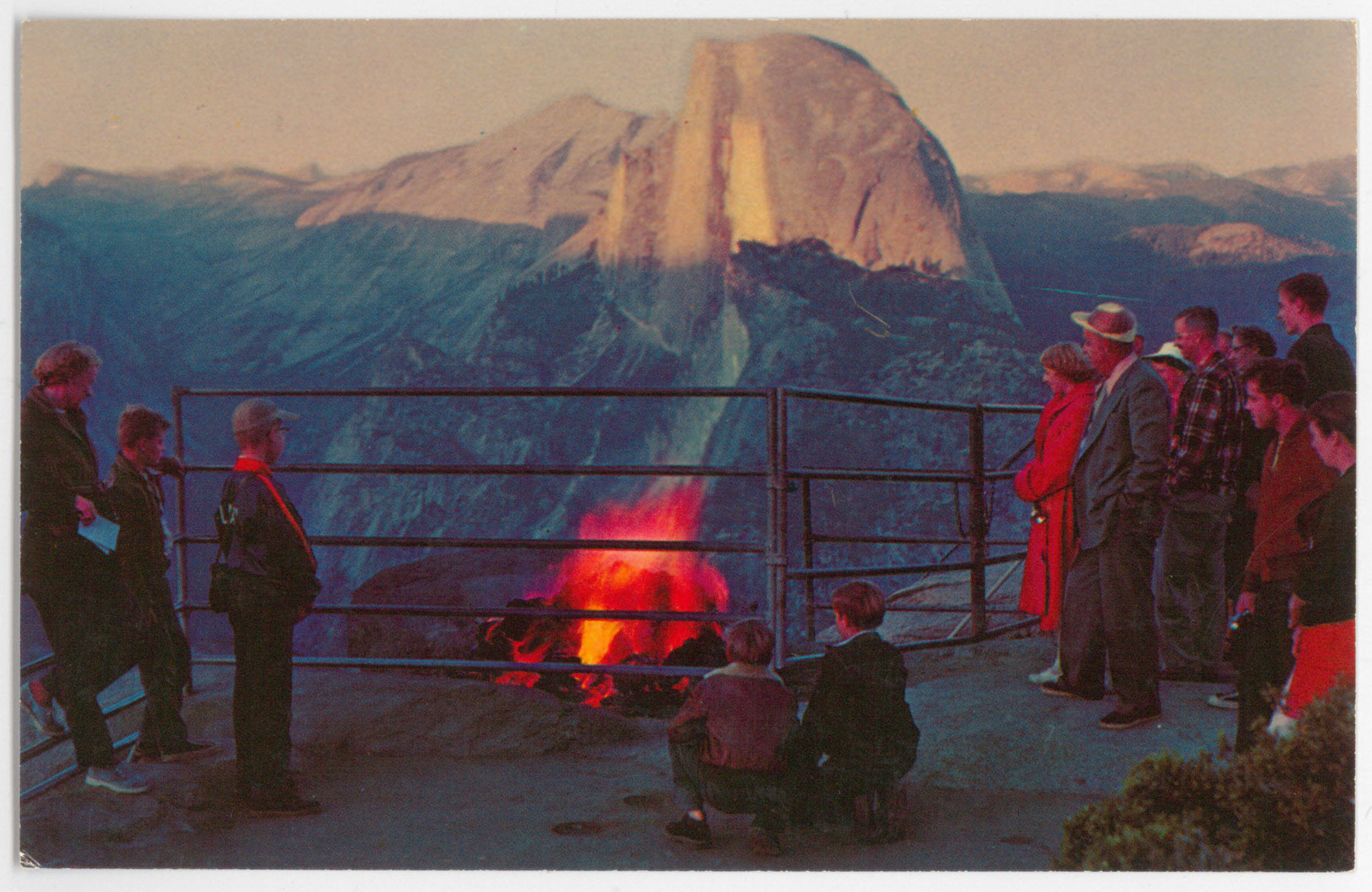 The Firefall bonfire atop Glacier Point
