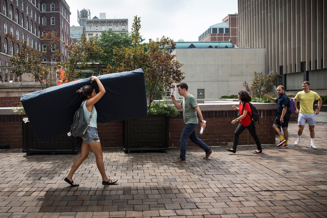 Emma Sulkowicz, aka Columbia University's Mattress Girl.